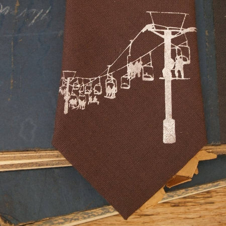 Brown or Charcoal Ski Lift Tie