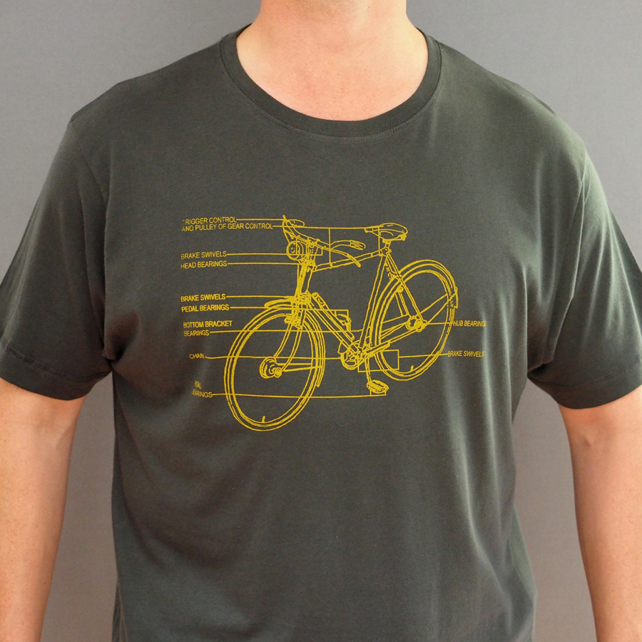 Annotated Bike Diagram T Shirtstabo Of A Bicycle Shirt