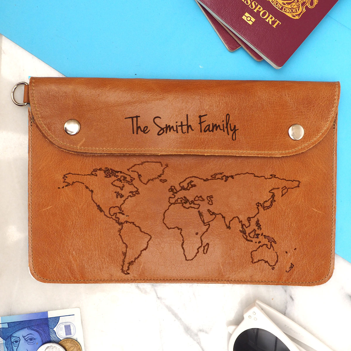 Travel accessories archivesstabo personalised leather family travel wallet gumiabroncs Images