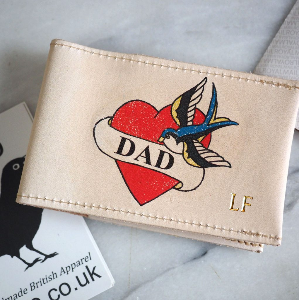 26f46c8680a6 Dad tattoo veg tan leather card holder